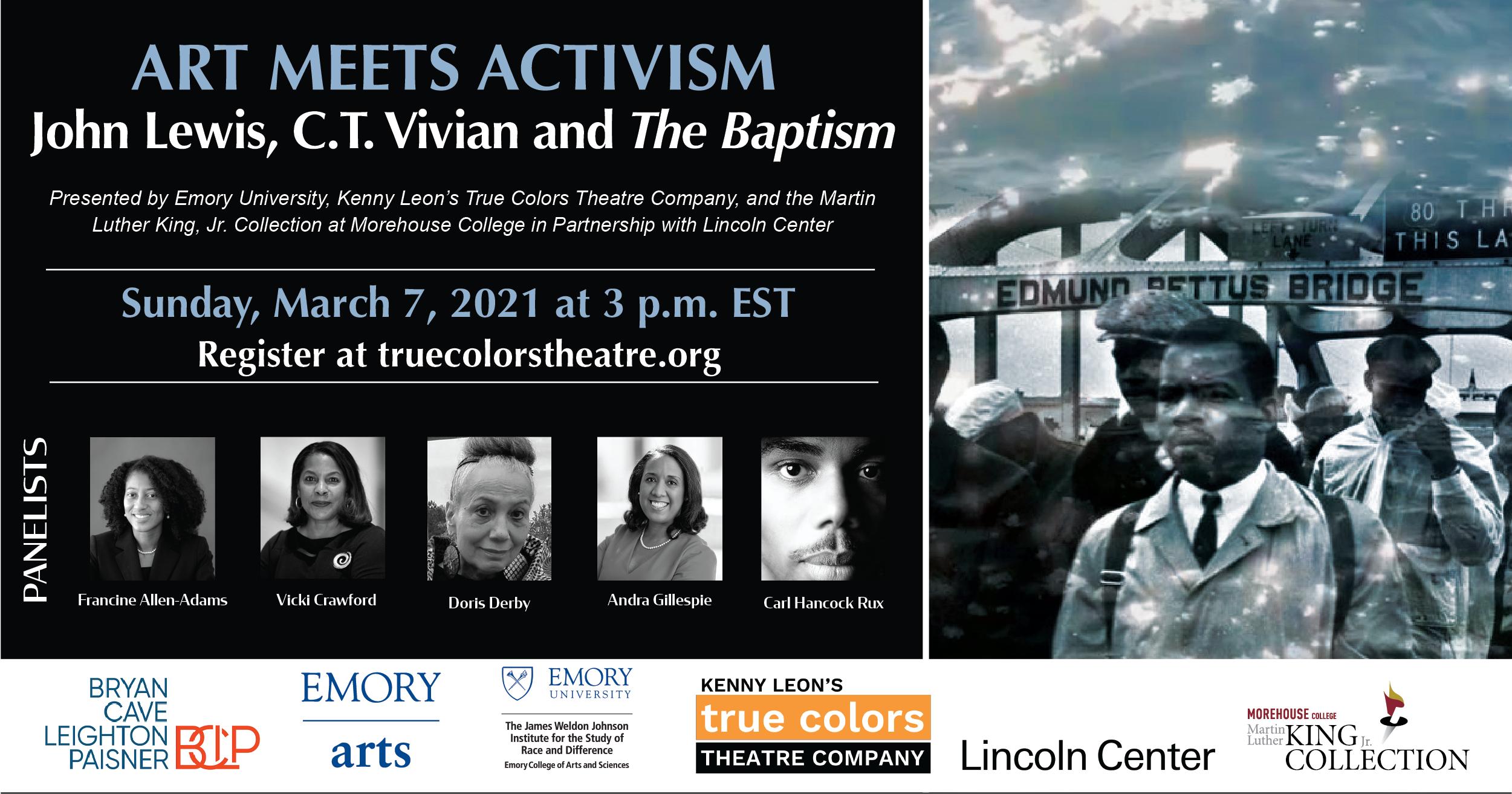 Art Meets Activism: John Lewis, C.T. Vivian, and The Baptism